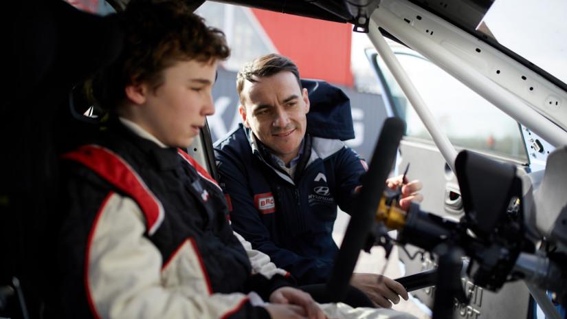 Bucsi Attila 13 évesen Micheliszék versenyzője. Fotó: M1RA