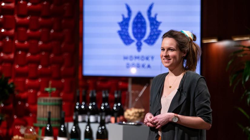 Homoky Dorka borász a Cápák között című üzleti showműsorban Fotó: RTL Magyarország