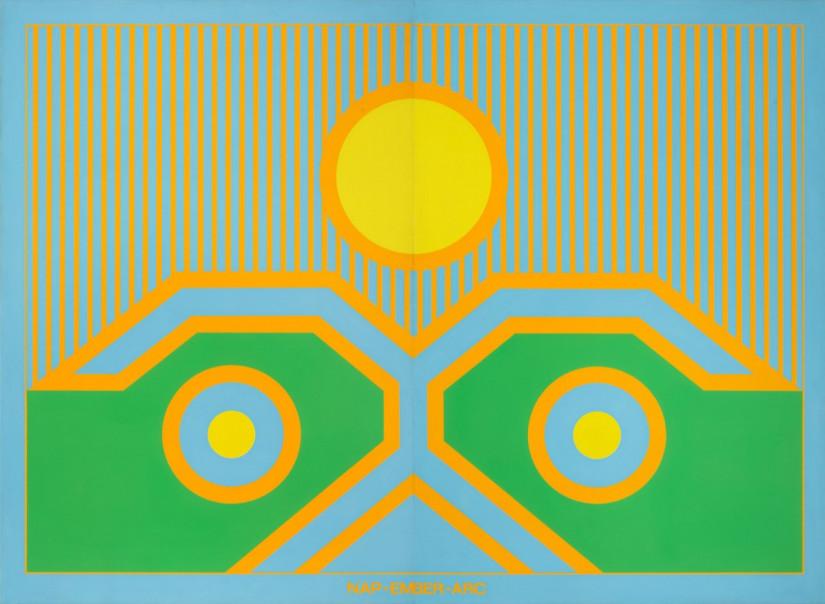 NAP - EMBER - ARC, II., 1976. 220x300cm, a/v.; TATE Modern London, vásárlás, 2016.