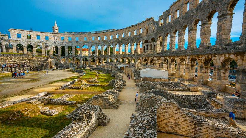 Roman amphitheater, Pula, Istria, Croatia.