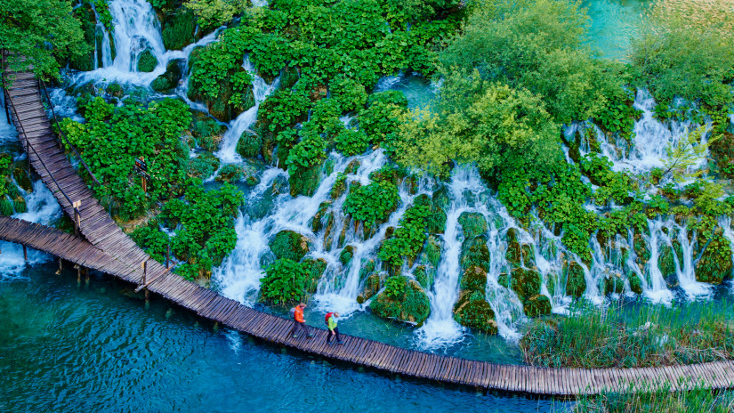 Croatia, Plitvice lakes National Park, Lower Lakes, Unesco World Heritage