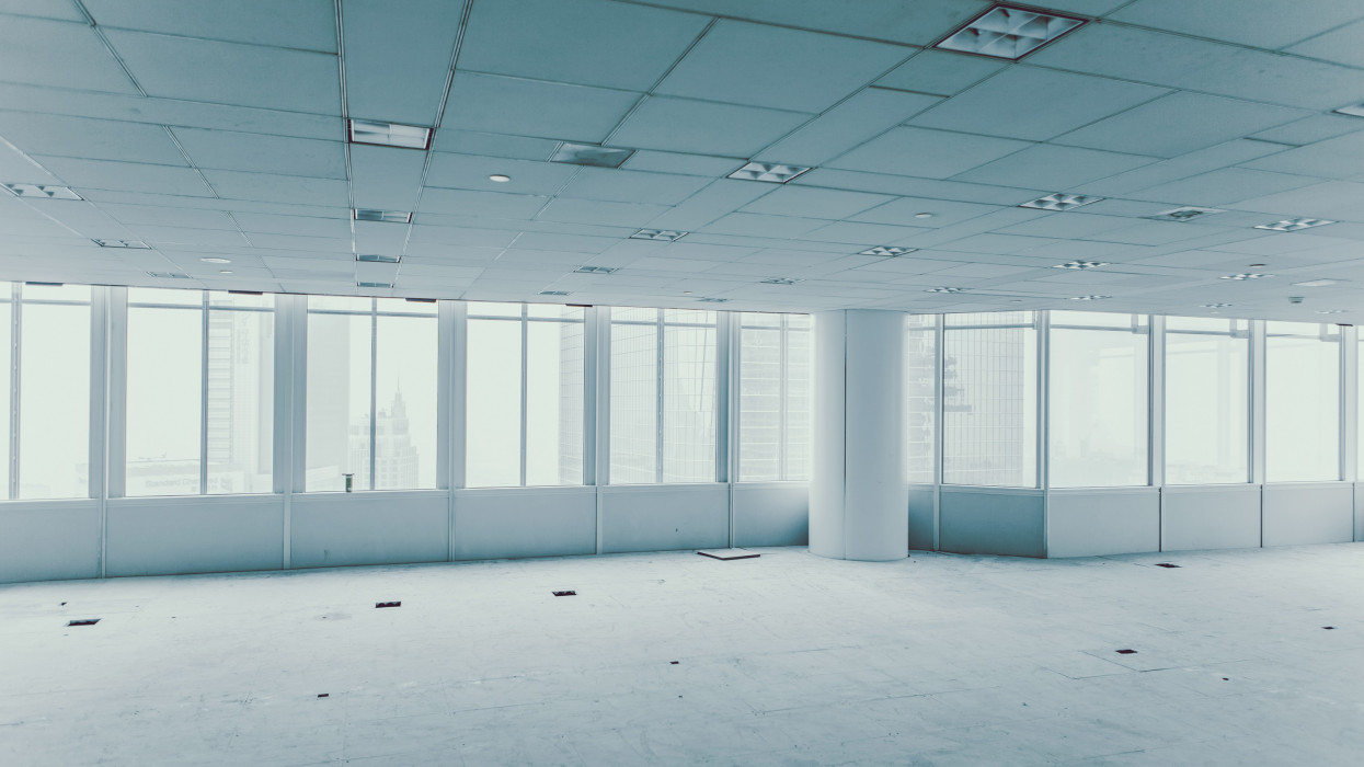 the vacant office space