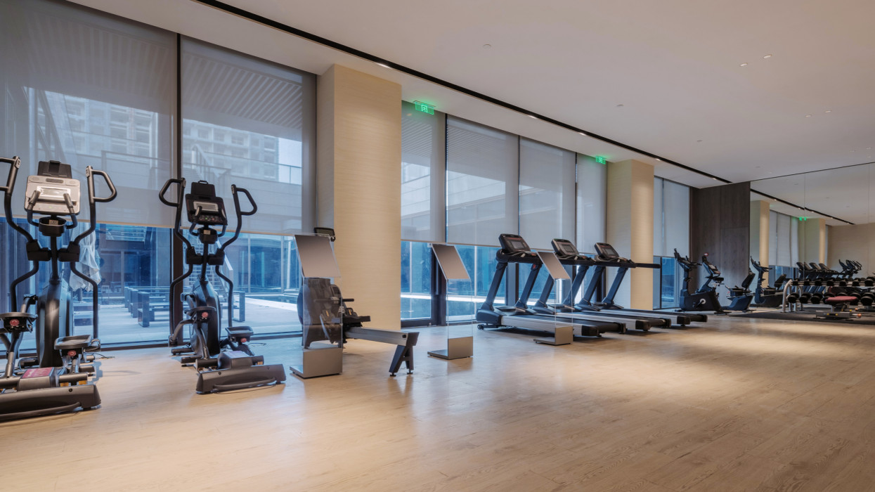 interior of luxury gym