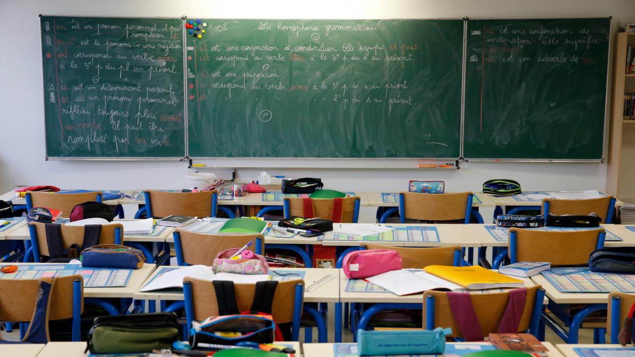 Primary school classroom.