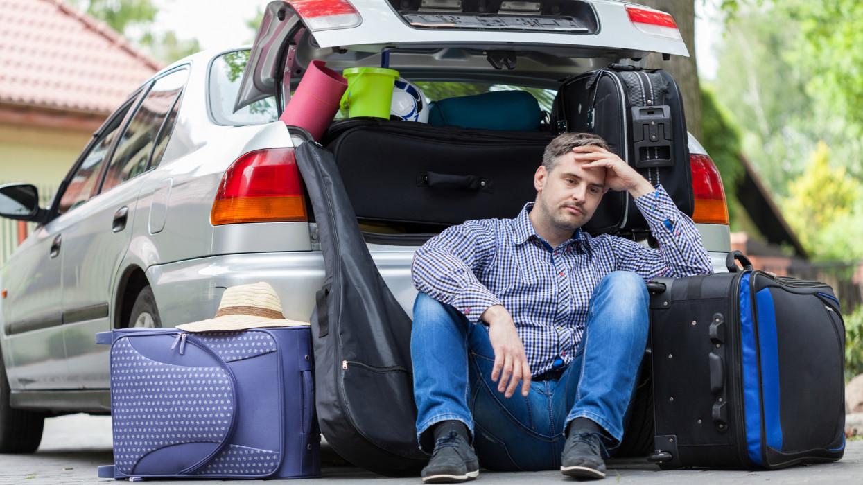 Break in packing stuff for a trip