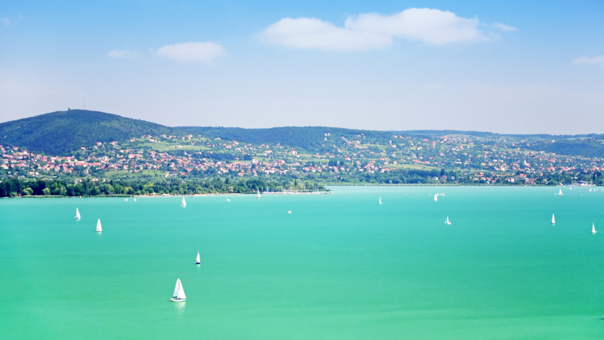Lake Balaton in Hungary it is the largest lake in Central Europe