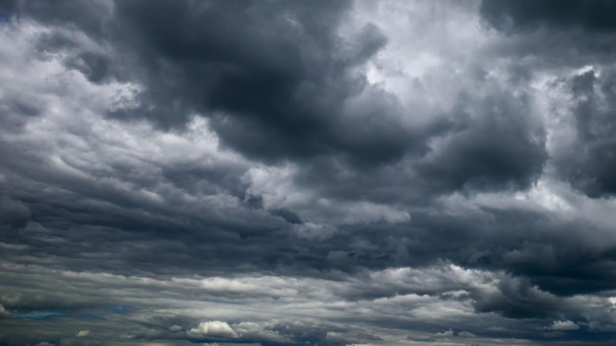 Stormy rain cloud background