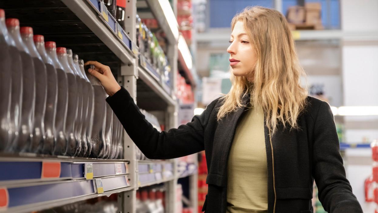 Cola, Drink, Buying, Supermarket, Customer
