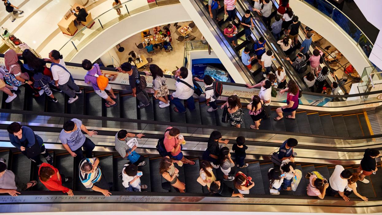 Thailand, Bangkok, Paragon shopping mall