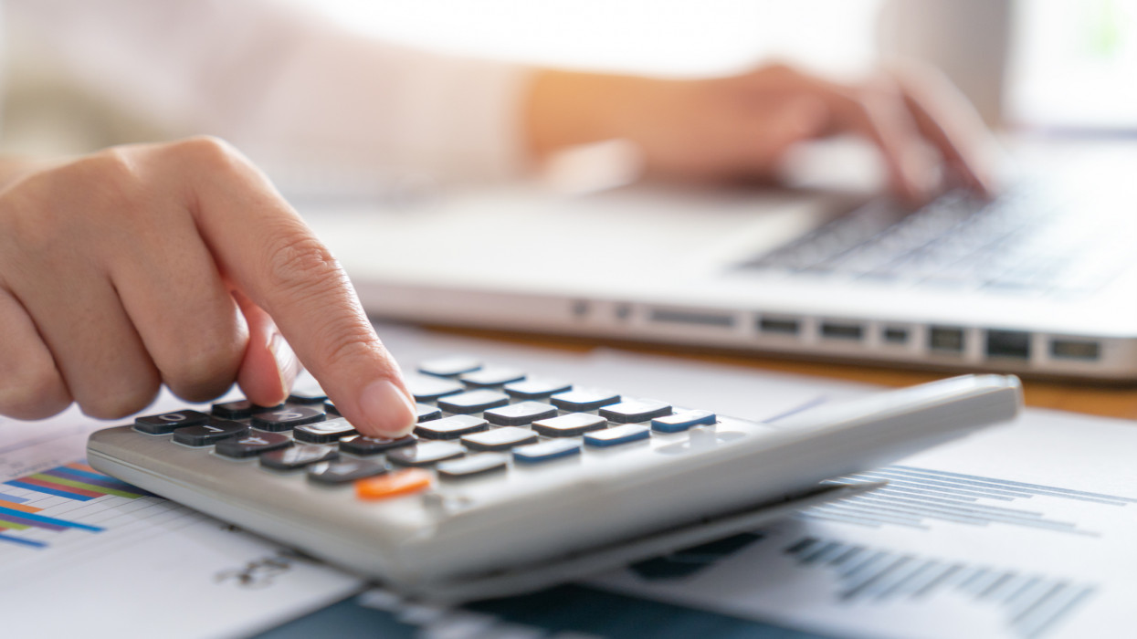 Business woman accounting concept financial in office