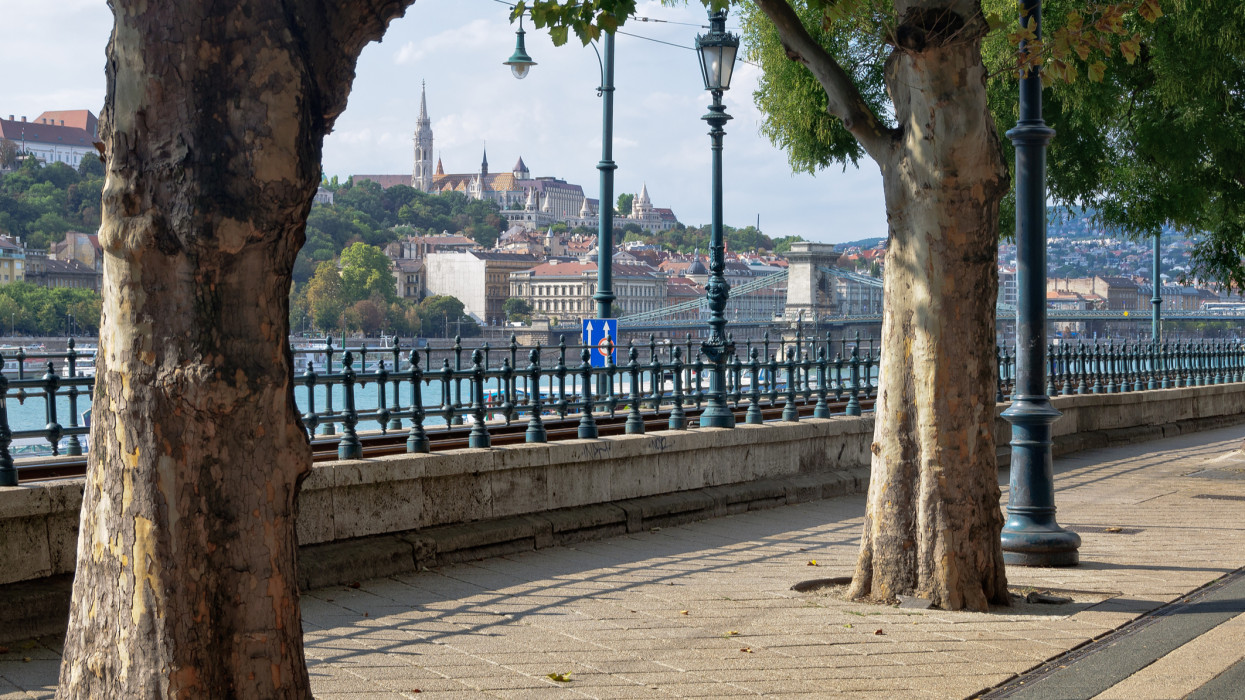 Promenade on the Pest side of the Danube River - Budapest, Hungary