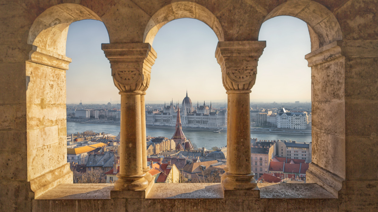 Budapest is one of Europes most photogenic capitals. This is a photo of Parliament from Fisherman's Bastion.