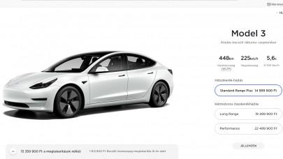 A Tesla Model 3-ra is járhat az állami támogatás: megszereztük a hivatalos magyar árlistát