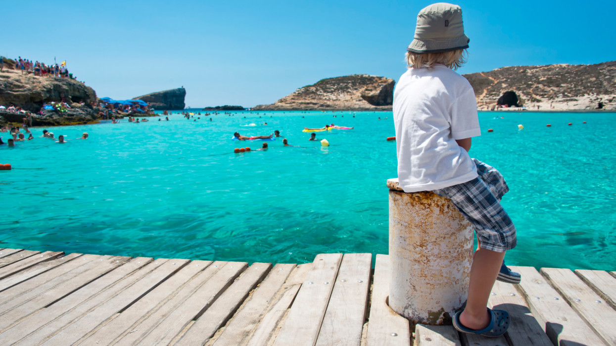 The Blue Lagoon is one of the best beaches in Malta, situated between the island of Comino and the islet of Cominotto.