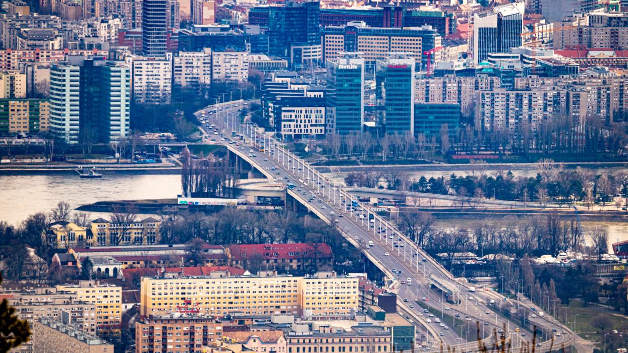 Bridge on Duna, Budapest, Hungary