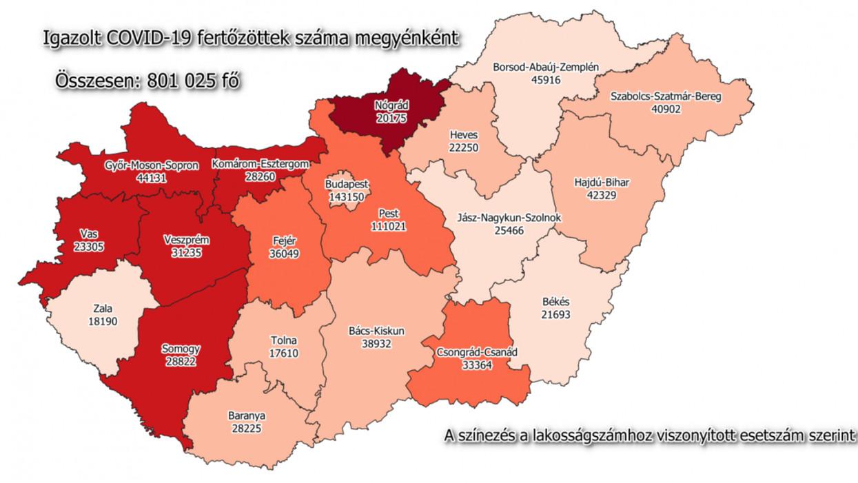 47 beteg hunyt el: 4 898 866 fő kapott már oltást Magyarországon