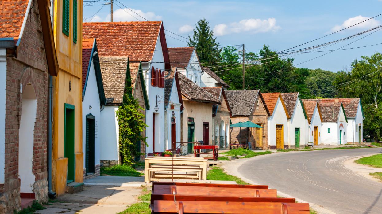 wine cellars in Villanykovesd, Hungary