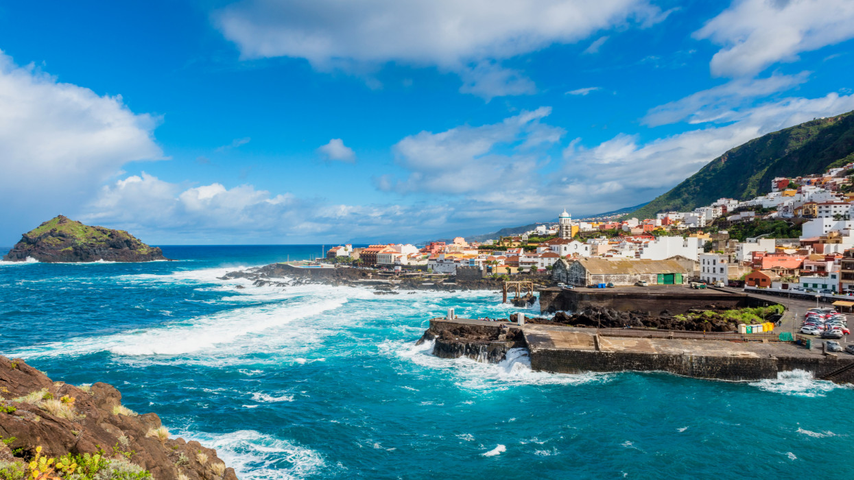 Coastal Village of Garachico, Tenerife, Canary Islands, Spain.
