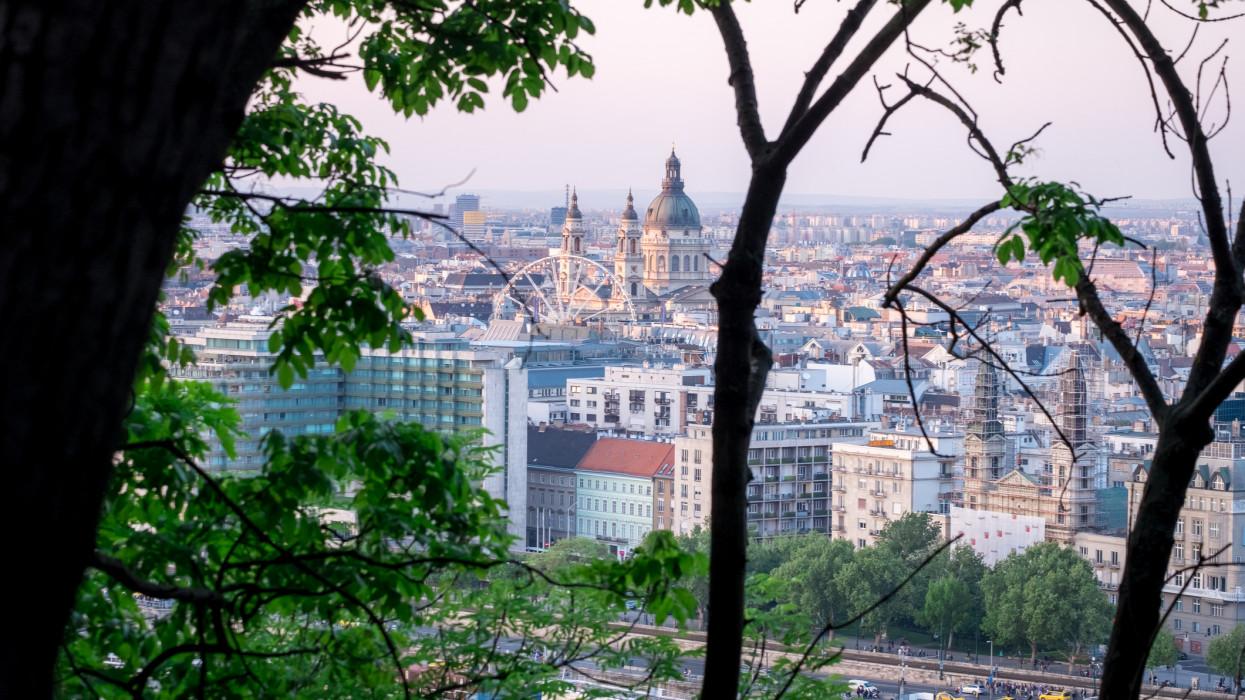 Budapest, Hungary City View from Gellérthegy