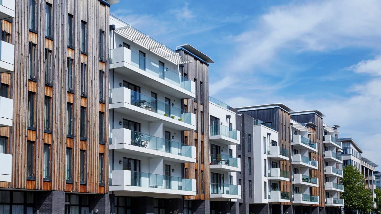 Modern luxury apartments at the redeveloped Millennium Promenade in Bristol