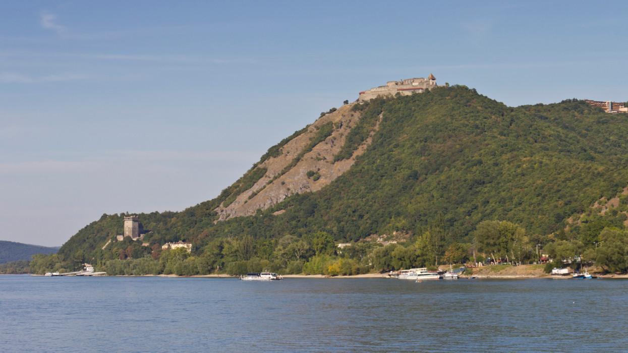 The Danube at VisegrA!d in Hungary.