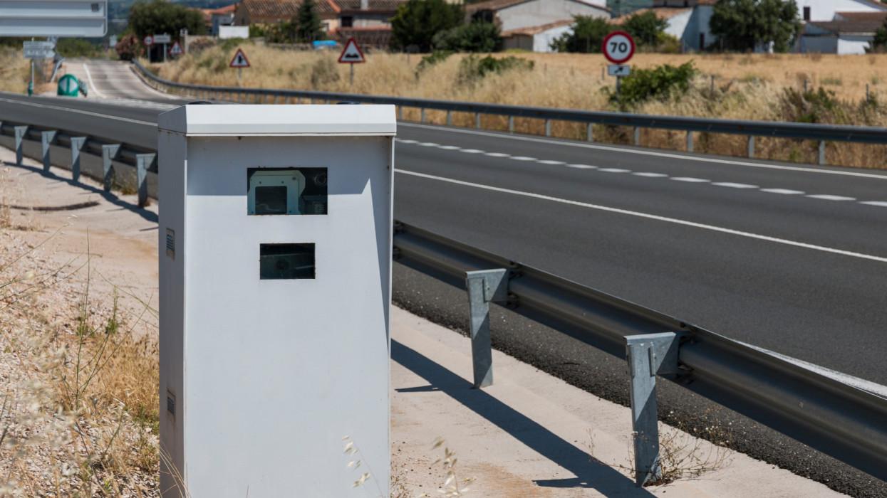 Road Speed Control Radar in Barcelona Province, Spain