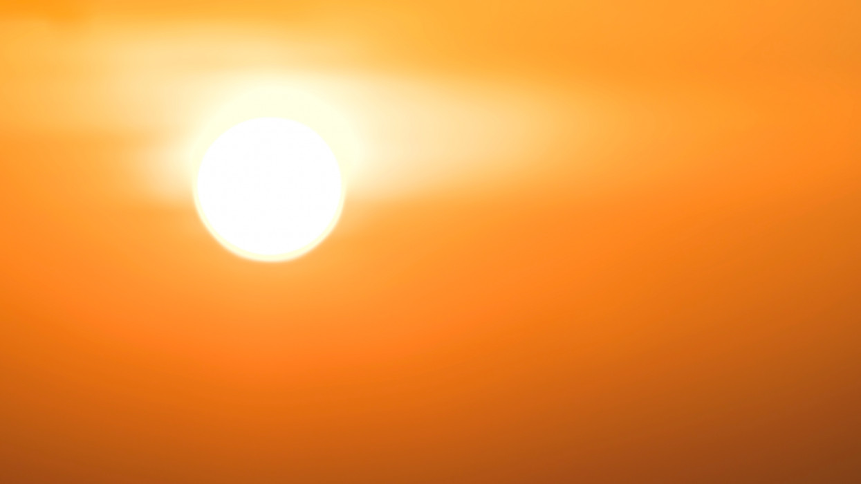 Global warming from the sun and burning, heat wave hot sun, climate change, Heatwave hot sun, makes heat stroke