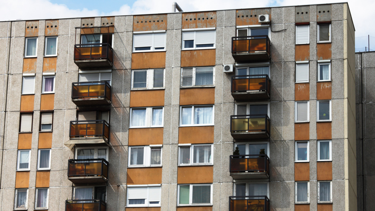 Apartment building in Budapest, Hungary