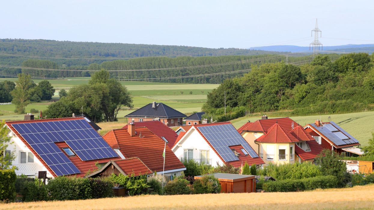 solar roofs in german village