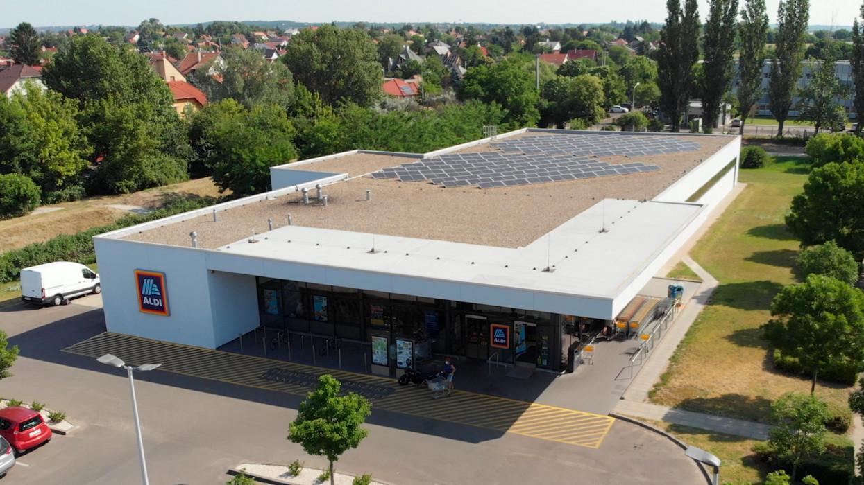 ALDI, napelem, fenntarthatóság