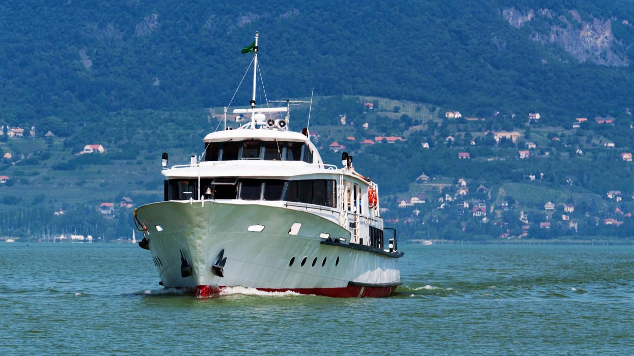 Passenger ship on Lake Balaton, Hungary, Nikon D5000