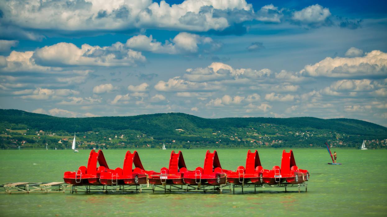 Beautiful Lake Balaton in summer Hungary