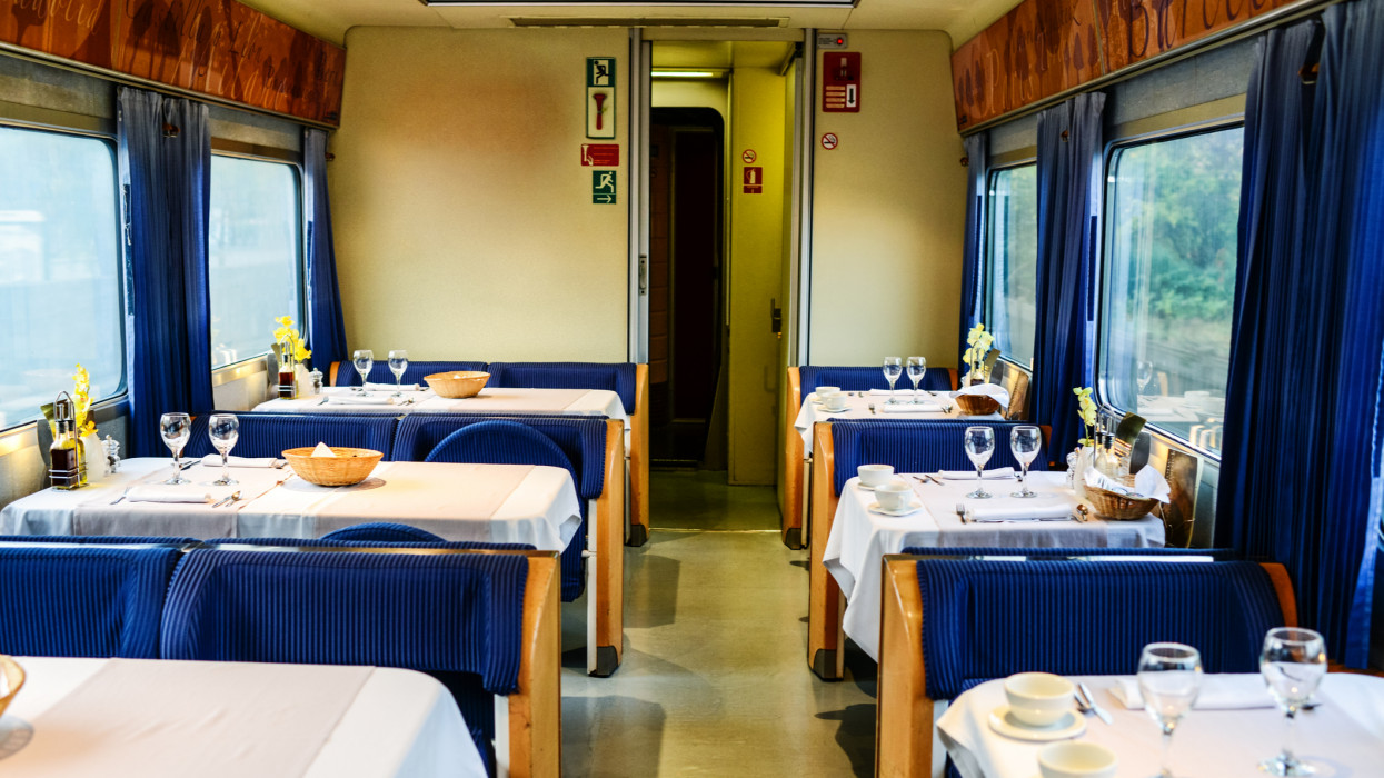 Dining Car in Train