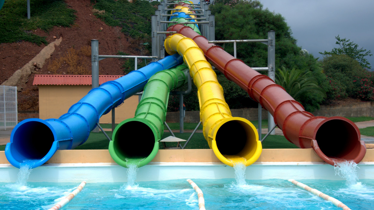 Water park slides.
