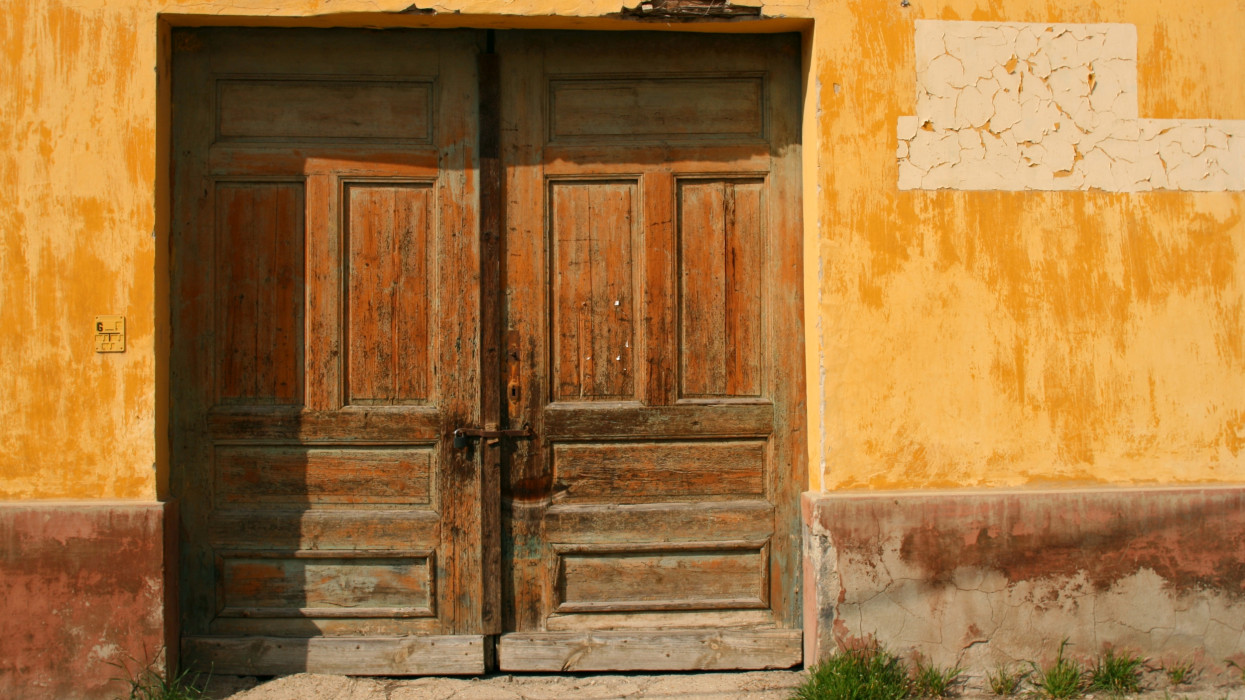 Part of an old abandoned rural house exterior from a northern hungarian little town, Esztergom.THE DOORS..., check out my thematic lightbox: