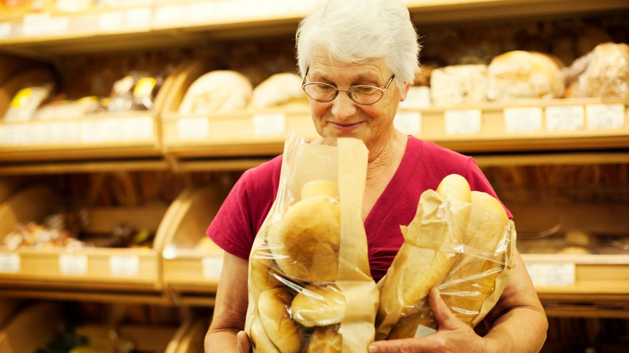 Fresh baked bread grocery shopping buy