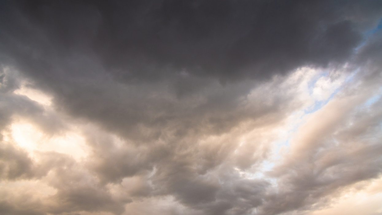 Aerial view dramatic dark strom sky nature background clouds for design concept and isolated text material