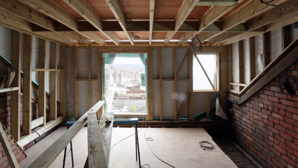 Loft conversion in Victorian Terrace house in Bristol, Mid Project, Part 1 of Sequence