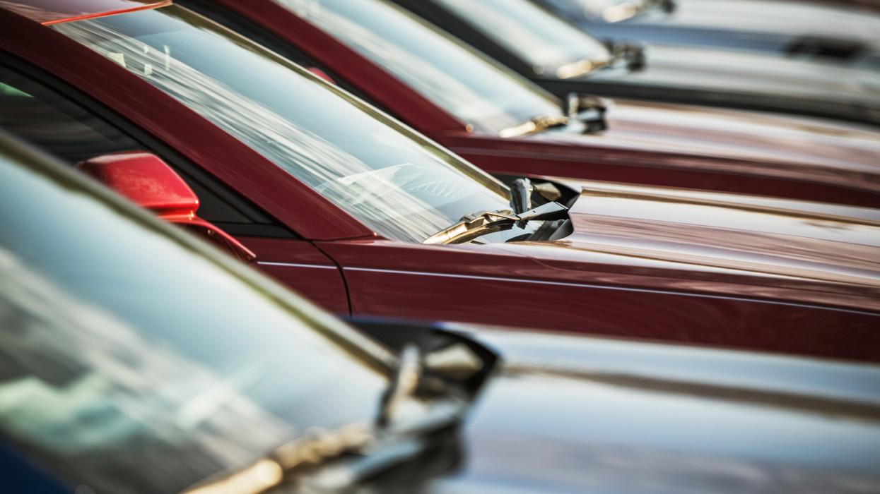 Automotive Sale Business. Dealership Lot. Brand New Cars For Sale.