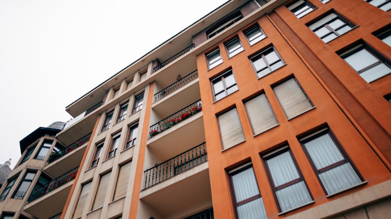 A block of apartments