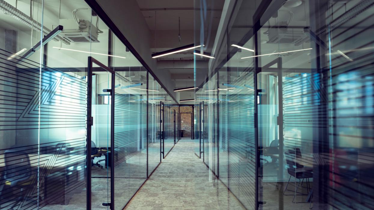 Modern co-working office interior