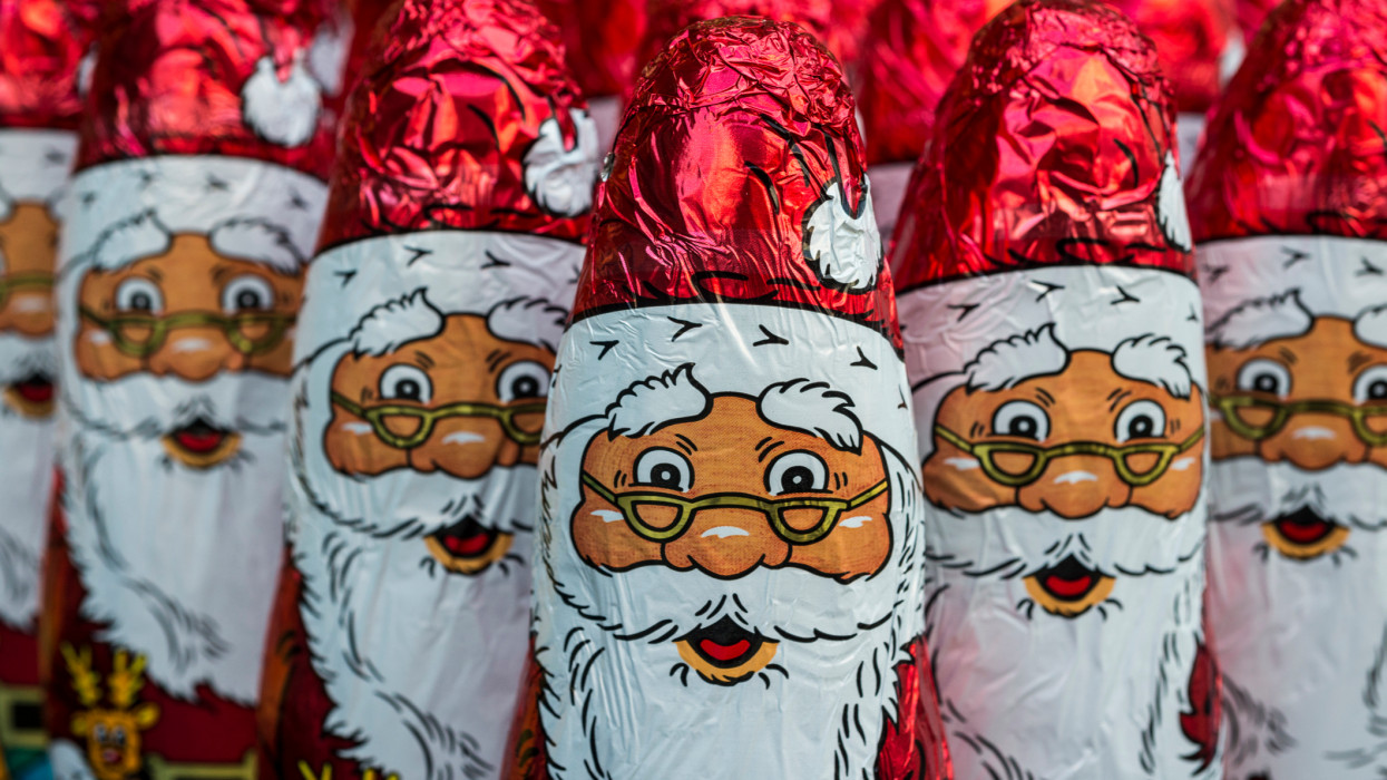 Santa Claus chocolate figure